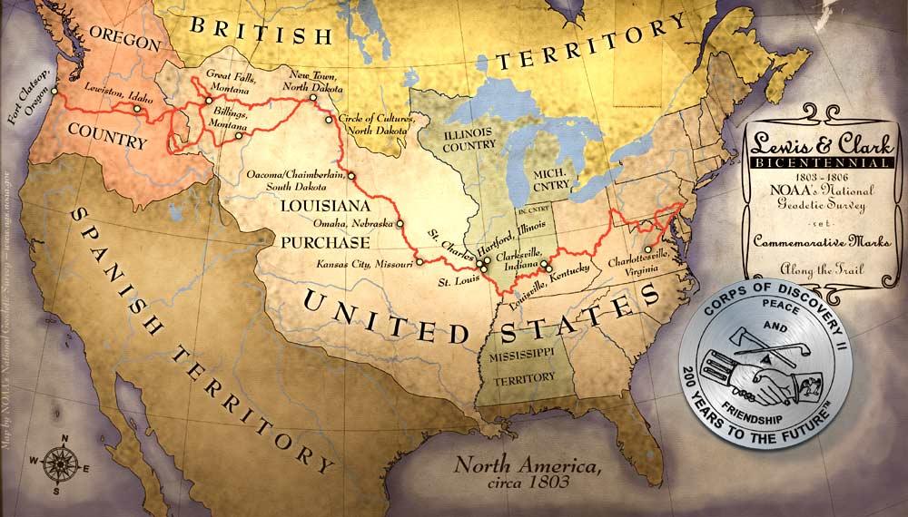 Map Of America Lewis And Clark.Lewis Clark Ngs Noaa