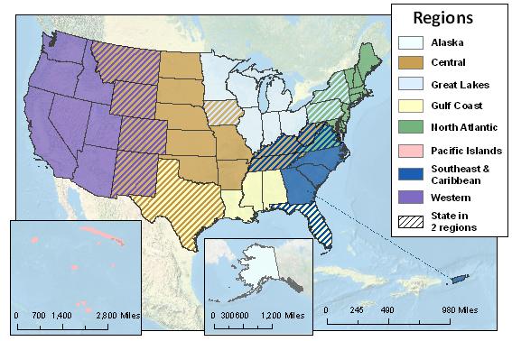 regional u s map